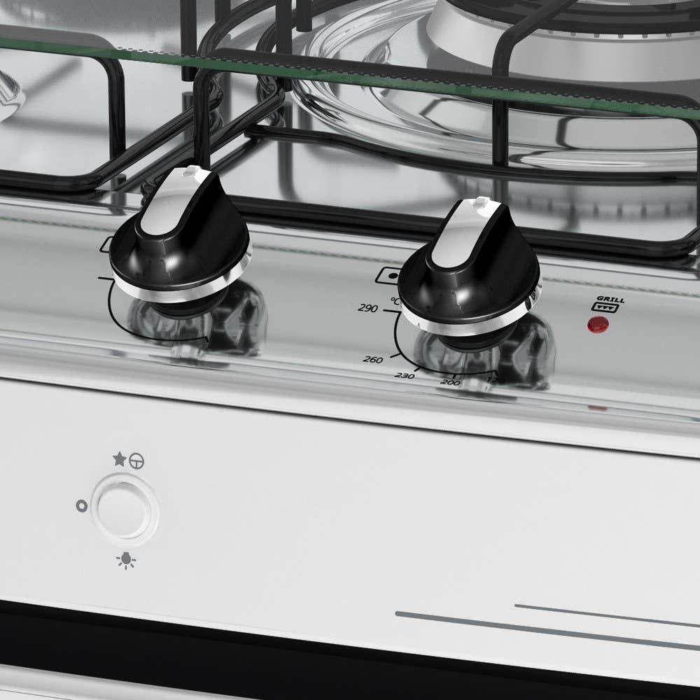 Botões removíveis e com acabamento cromado